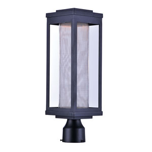 Salon LED Black 20-Inch LED Outdoor Post