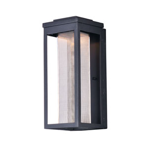 Salon LED Black 15-Inch LED Outdoor Wall Mount