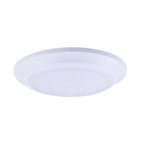 Diverse LED White Eight-Inch LED Flush Mount