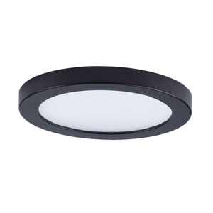 Wafer LED Bronze Five-Inch LED Flush Mount