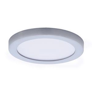 Wafer LED Satin Nickel Five-Inch LED Flush Mount