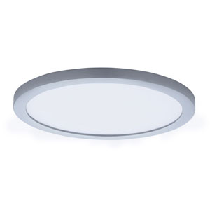 Wafer LED Satin Nickel 10-Inch LED Flush Mount