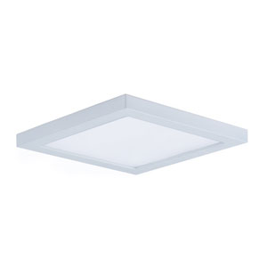 Wafer LED White Seven-Inch LED Square Flush Mount