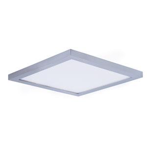 Wafer LED Satin Nickel Nine-Inch LED Flush Mount