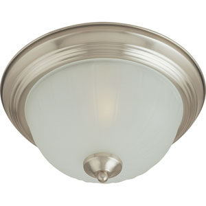 Essentials Satin Nickel One-Light Flush Mount