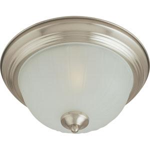 Essentials Satin Nickel One-Light Flush Mount