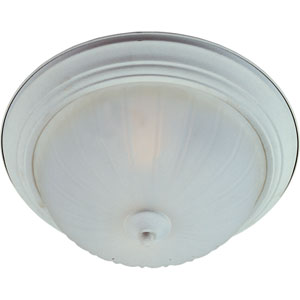 Essentials Textured White One-Light Flush Mount