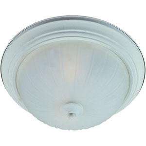 Essentials - 583x Textured White Three-Light Flushmount