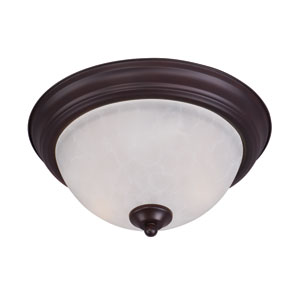 Essentials - 584x Oil Rubbed Bronze One-Light Flushmount with Ice Glass