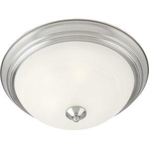 Essentials - 584x Satin Nickel One-Light Flushmount