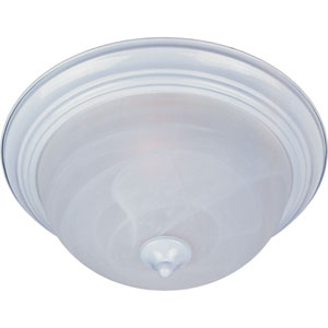 Essentials - 584x White One-Light Flushmount