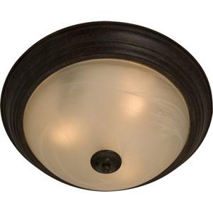 Essentials Oil Rubbed Bronze Two-Light Flush Mount