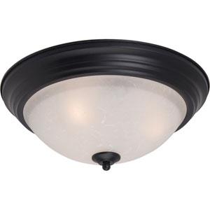 Essentials Black Two-Light Flush Mount