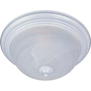 Essentials - 584x White Two-Light Flushmount