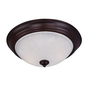 Essentials - 584x Oil Rubbed Bronze Three-Light Flushmount