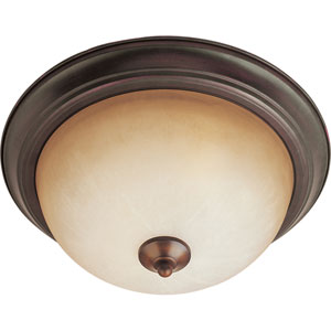 Essentials - 584x Oil Rubbed Bronze Three-Light Flushmount with Wilshire Glass