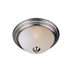 Essentials - 584x Satin Nickel Eleven-Inch Flushmount with Frosted Glass