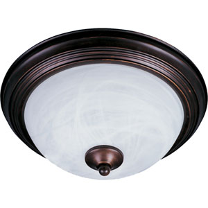 Essentials Oil Rubbed Bronze Two-Light Flush Mount