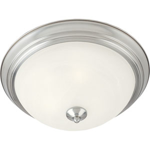 Essentials Satin Nickel Two-Light Flush Mount
