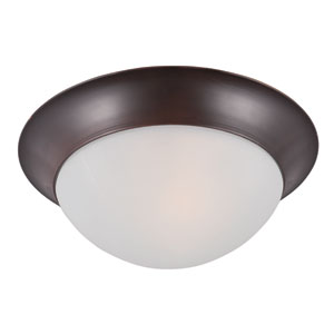 Essentials - 5850 Oil Rubbed Bronze One-Light Flushmount with Frosted Glass