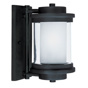 Lighthouse Anthracite One-Light Six-Inch Outdoor Wall Sconce
