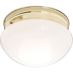 Essentials Polished Brass One-Light Flush Mount