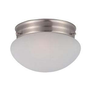 Essentials - 588x Satin Nickel One-Light Flushmount
