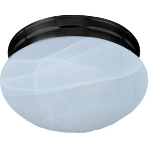 Essentials Oil Rubbed Bronze One-Light Flush Mount