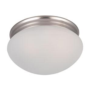 Essentials - 588x Satin Nickel Two-Light Flushmount