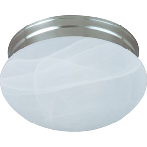 Essentials Satin Nickel Two-Light Flush Mount