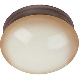 Essentials Oil Rubbed Bronze One-Light Flush Mount