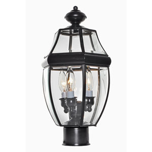 South Park Burnished Three-Light Outdoor Pole/Post Lantern