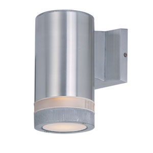 Lightray Brushed Aluminum 8-Inch High One-Light Wall Sconce