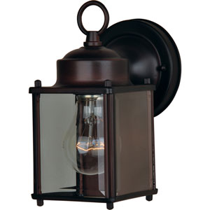 Side Door Oil Rubbed Bronze One-Light Outdoor Wall Mount