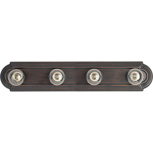 Essentials Oil Rubbed Bronze Four-Light Bath Vanity