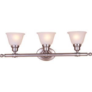 Urban Satin Nickel Three-Light Bath Fixture