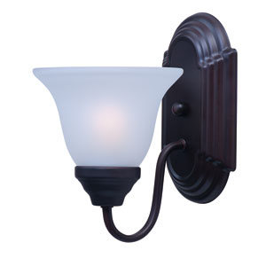 Essentials - 801x Oil Rubbed Bronze One-Light Bath Fixture with Frosted Glass