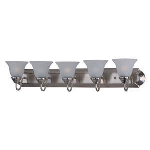 Essentials - 801x Satin Nickel Five-Light Bath Vanity