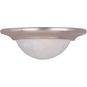 Pacific Satin Nickel One-Light Thirteen-Inch Wall Sconce with Marble Glass