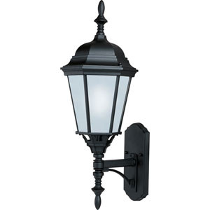 Black One-Light Outdoor Wall Lantern