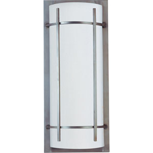 Brushed Metal Luna Two-Light Outdoor Wall Mount