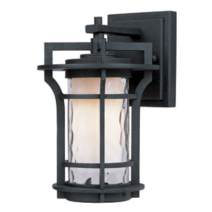 Oakville Black Oxide 9.5-Inch High One-Light Fluorescent Outdoor Wall Mount