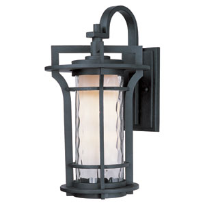 Oakville Black Oxide 17.5-Inch High One-Light Fluorescent Outdoor Wall Mount