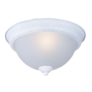 Flush Mount EE Textured White One-Light Six-Inch Fluorescent Flushmount