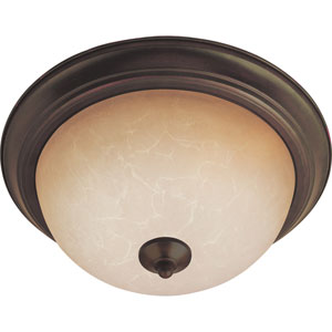 Flush Mount EE Oil Rubbed Bronze One-Light Fluorescent Flushmount with Wilshire Glass