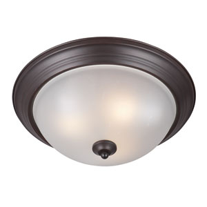 Flush Mount EE Oil Rubbed Bronze Three-Light Fluorescent Flushmount