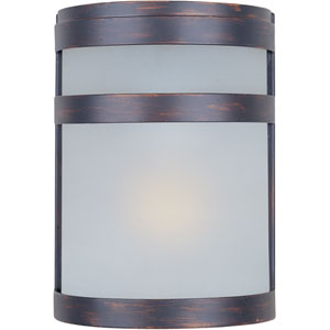 Arc EE Fluorescent Oil Rubbed Bronze One-Light Outdoor Wall Mount