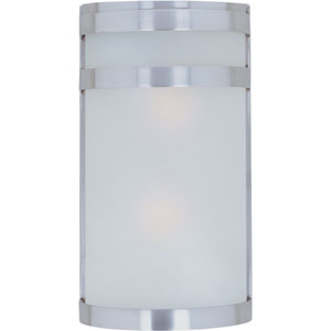 Arc EE Fluorescent Stainless Steel Two-Light Outdoor Wall Mount
