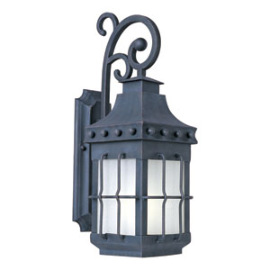 Nantucket EE Fluorescent Country Forge One-Light Outdoor Wall Mount