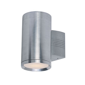 Lightray Brushed Aluminum 9.5-Inch High LED Wall Sconce
